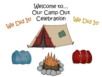 Last Day of School Indoor Camp Out Celebration