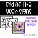 Last Day of School Photo Signs FREEBIE