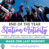End of the Year Station Activity {Final Memories for the E