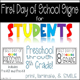 First Day of School Signs Freebie: Fun Photo Ops for Students!