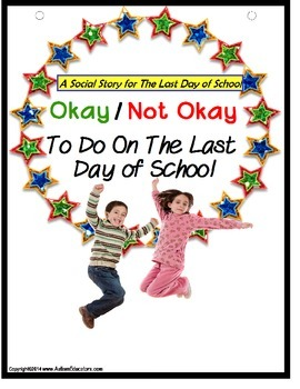 Last Day of School Social Story and File Folder Activity {Autism}