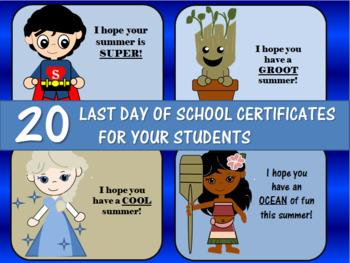 Last Day of School/Summer Cards