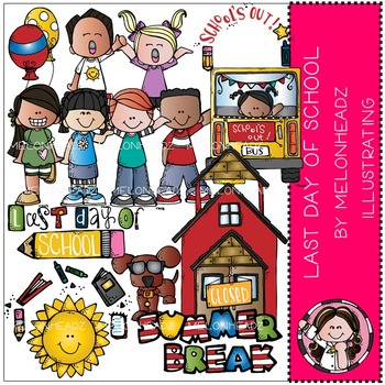 Last Day of School clip art - COMBO PACK- by Melonheadz