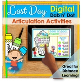 Last Day of School for Speech Therapy | DIGITAL | Distance