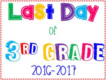 Last Day of School poster