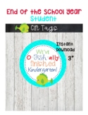 Last Day of School printable gift tags-Kindergarten-End of Year tags