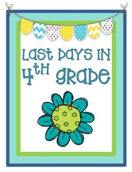 Last Days in 4th Grade {Fourth Grade End of the Year Activities}