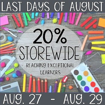 Last Days of August Sale