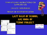 Last Days of School Book of Terms Project
