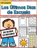 End of Year, Last Days of School in SPANISH, Summer, Memory Book