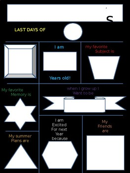 Last Days of _____ Grade Poster