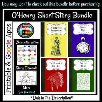 Last Leaf O'Henry Tier 2 Vocabulary, Reading Questions, Story Elements Bundle