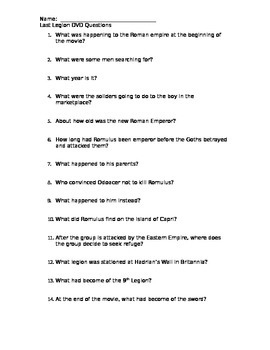 Last Legion Movie Questions
