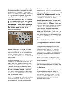 Last Letter - alphabetic tile game, like others, only BETTER!