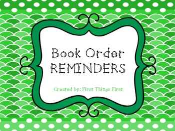 Last Minute Book Order Reminder