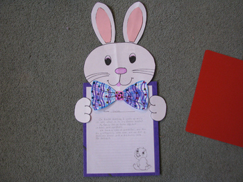 Spring Bunny to display class work with flair!