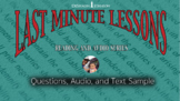 Last Minute Lesson ELAR - Informational Text Article w/Aud