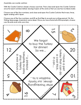 Thanksgiving Activities - Last Minute, No Prep, Easy (Just print and use)