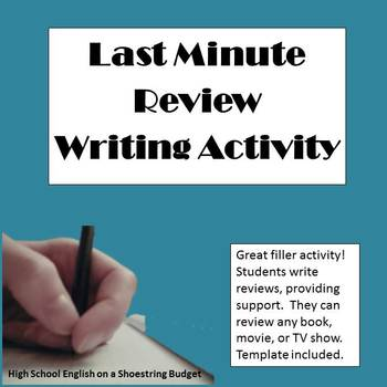 Last Minute Review Activity (Great Filler for Last Minutes of Class)