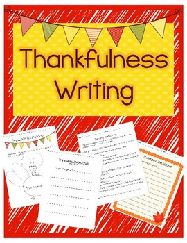 Last Minute Thanksgiving Writing