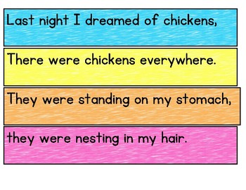 Last Night I Dreamed of Chickens by Jack Prelutsky  Poetry Center Pack