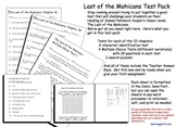 Last of the Mohicans Test Pack