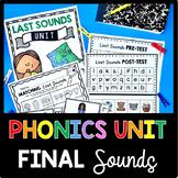Last Sounds Unit - Final Phonemes - Phonics Unit  CVC Words Worksheets - Centers