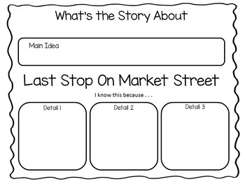 Last Stop On Market Street by Matt De La Pena    51 pgs Common Core Activities