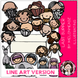 Last Supper clip art - Bible - LINE ART- by Melonheadz
