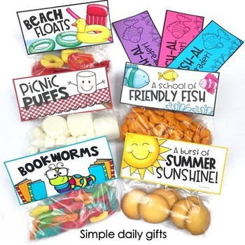 Last Week of School Activities & End of the Year Countdown Gifts- First Grade