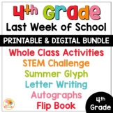 Last Week of School Activities 4th Grade | End of Year Activities