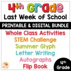 Last Week of School Activities for 4th Grade