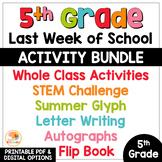 Last Week of School Activities for 5th Grade
