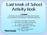 Last Week of School Activity Packet- Fun & Educational Activities (Third Grade)
