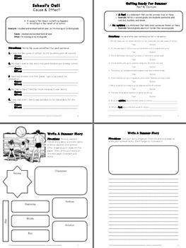 Last Week of School Activity Packet- Fun & Educational Activities (Fifth Grade)