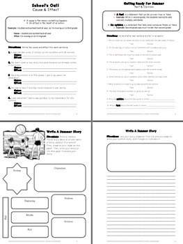 Last Week of School Activity Packet- Fun & Educational Activities (Fourth Grade)