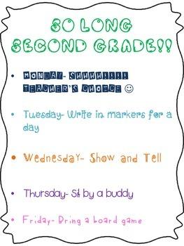 Last Week of School Fun