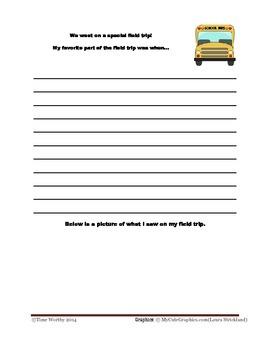 Last Week of School Memory Book