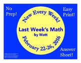 Last Week's Math: February 22-26, 2016