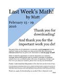 Last Week's Math: February 8-14, 2016