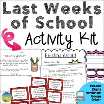 Last Weeks of School Activities for End of the Year - Distance Learning