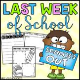 Last Weeks of School Activities and Memory Book: No Prep