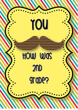 Last day of school 2nd grade Mustache Memory book