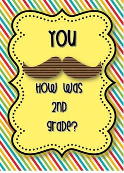 Last day of school 2nd grade Mustache Memory book