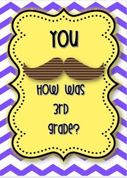 Last day of school 3rd grade mustache memories