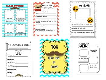 Last day of school 4th grade Mustache Memory book