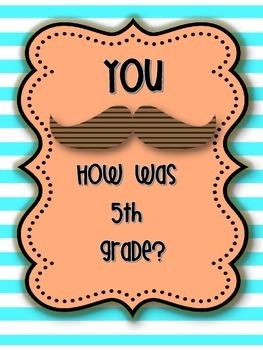 Last day of school 5th grade Mustache Memory book