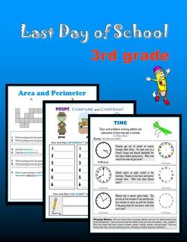 Last day of school:  Third Grade