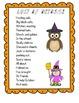 Last of October  A Fun  Halloween Poem Study