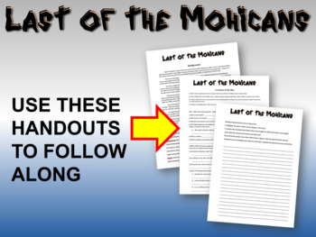 Last of the Mohicans - video guide, questions, writing prompts, background